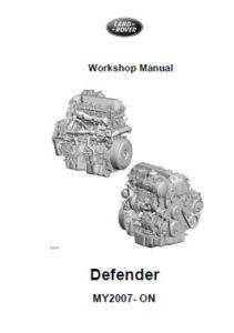 Land Rover Defender 2007 Workshop Manual WSM-8935