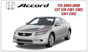 Honda Accord TIS 2003-2008 Workshop Service Repair Manual