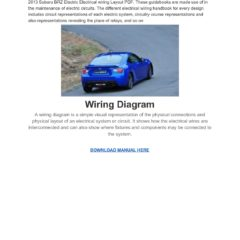 Subaru BRZ 2013 Electrical Wiring Diagram Manual Pdf
