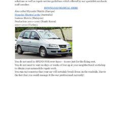 Hyundai Lavita 2001-2005 Workshop Service Repair Manual