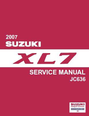 Suzuki XL7 2007 JC636 Series Workshop Service Pdf Manual