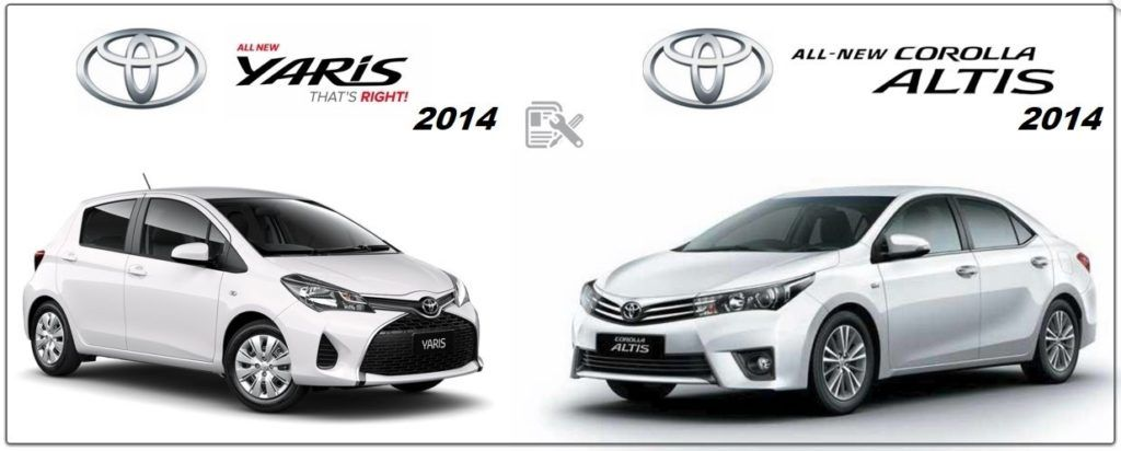 Toyota Corolla 2014 & Yaris Workshop Repair Manuals